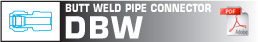 Butt weld pipe connector